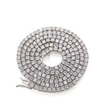 4mm欧美嘻哈微镶锆石16-24inches Tennis Chain单排钻项链饰品