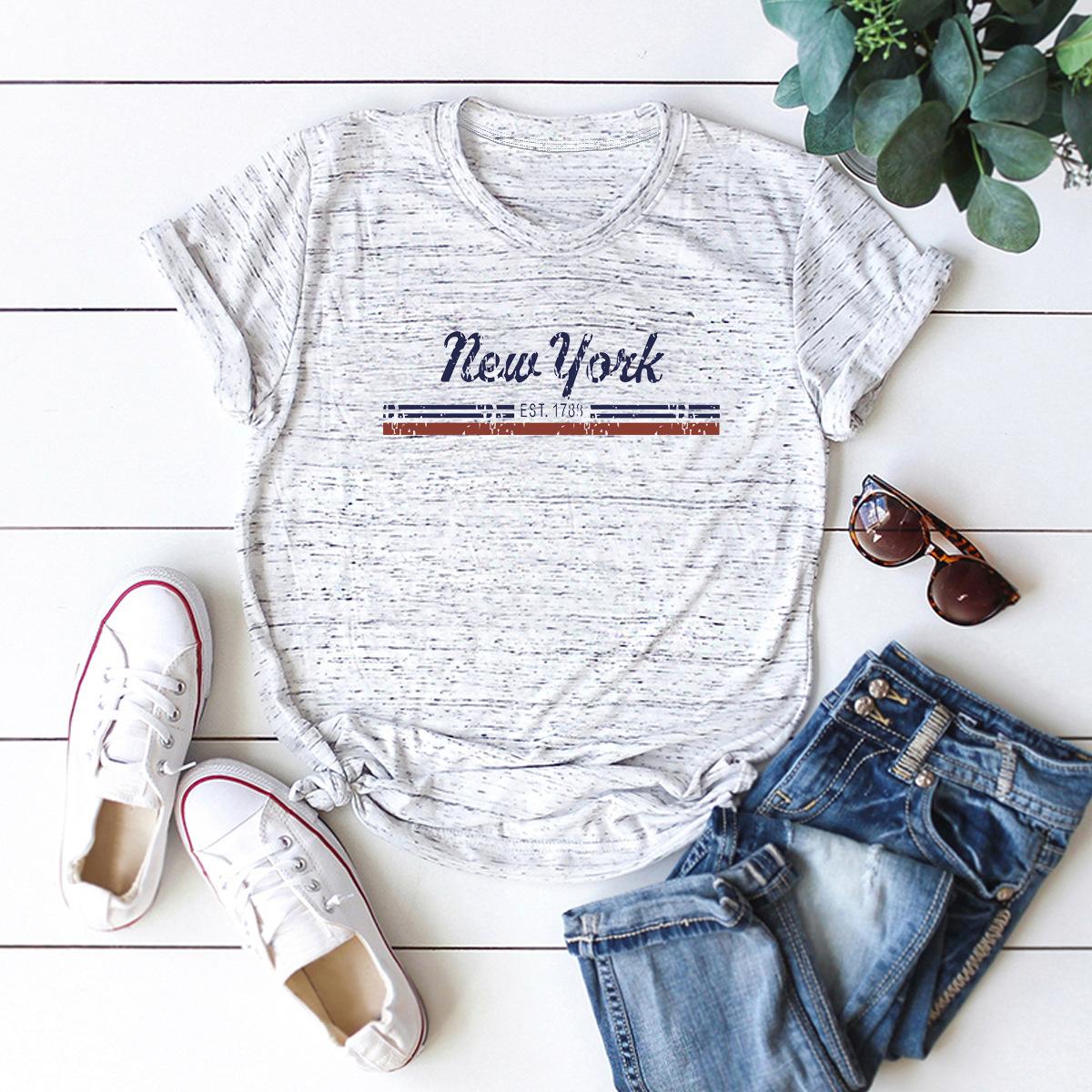 popular new york letters short-sleeved T-shirt NSSN3792