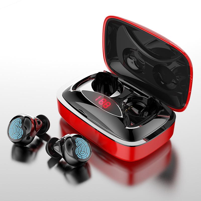 TWS触控蓝牙耳机 带电量5.0双耳真无线迷你运动跑步耳机超长待机
