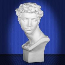 藝伯樂小衛石膏像62cm頭像美術素描人物朱利亞諾德梅第奇雕塑擺件