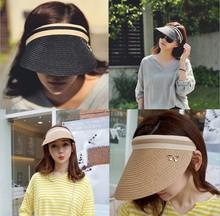 帽?#20248;?#21457;2019款夏季新款女士成人空顶帽子户外防晒遮阳草帽凉帽女