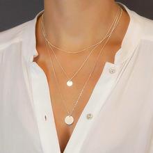 欧美外贸饰品 大牌同款 街拍时尚 简约亮片 多层套装项链 XL247
