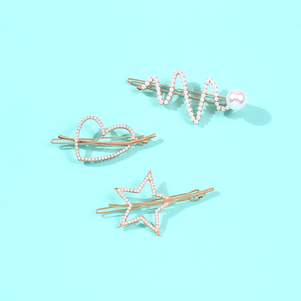Pearl Irregular Hair Clip Hot Selling Fashion Clip Hair Accessories Set NHMD190330