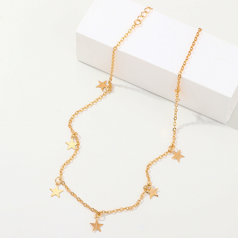 Fashion Star Pentagram Alloy Necklace NHNZ138253