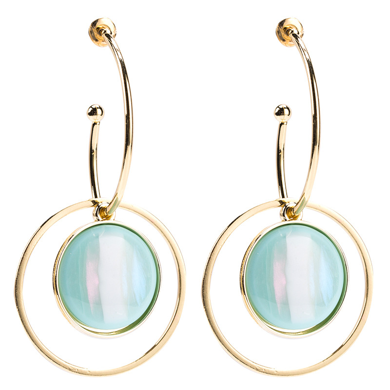 Colorful lines snake eye earrings women's fashion exquisite earrings personality simple NHJE179619