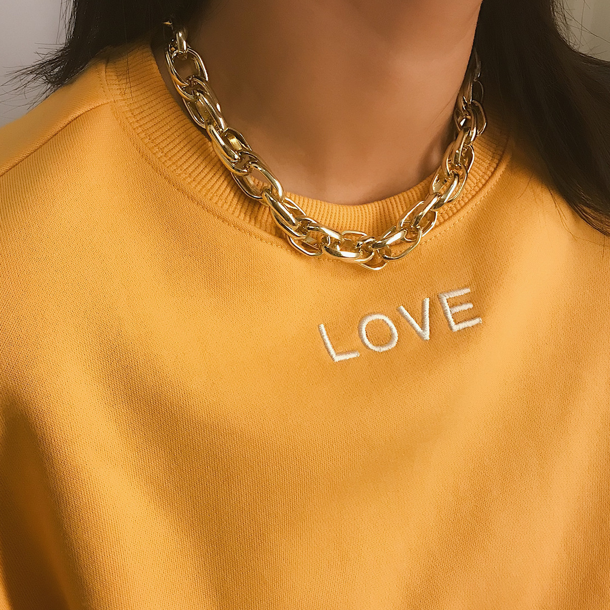 Aluminum Simple Geometric necklace  (Alloy 2326)  Fashion Jewelry NHXR2761-Alloy-2326