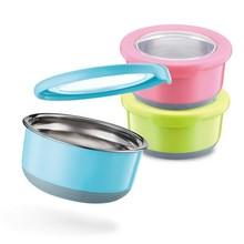 正品 特得美TEDEMEI 圆形不锈钢保鲜盒 密封碗 防漏防益密封盒