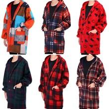 韩版羽绒服罩衣成人女加绒加厚长袖护衣时尚厨房围裙工作服男冬季