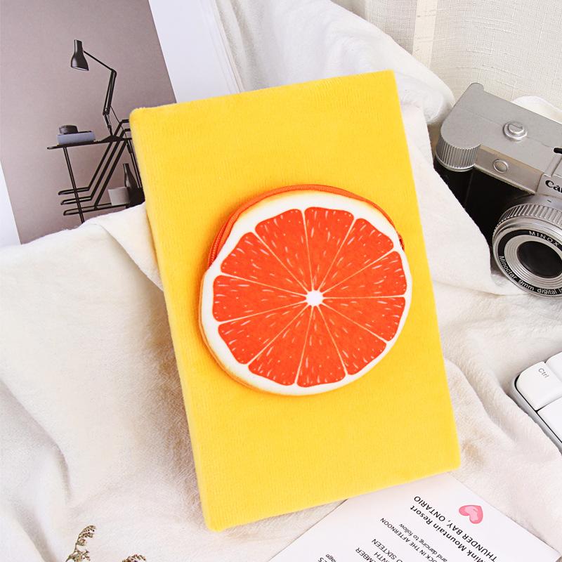 棉质毛绒笔记本卡通创意日记本多系列个性可爱笔记本零钱包记事本
