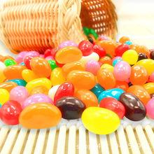 吉利豆脆皮软糖 彩色糖果 水果味软糖 散装2公斤休闲零食厂家批发