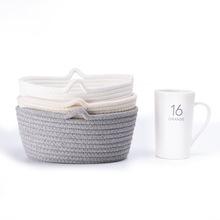厂家直销棉线收纳筐棉绳编织筐桌面收纳置物篮脏衣篮玩具篮可定制