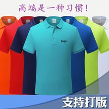 夏季純棉翻領聚會活動衫企業團隊工作班服裝男式polo衫定制印logo
