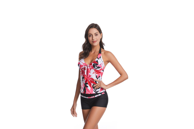 New medium and large size swimwear printed boxer bikini women NHHL200055