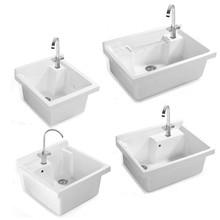 一体洗衣池阳台水池洗衣台盆搓衣板洗衣盆带搓板的洗手盆陶瓷深槽