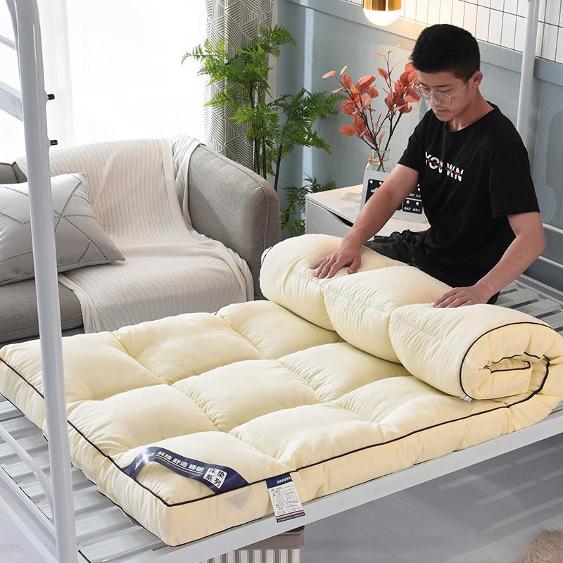 宾馆床垫秋冬加厚羽丝绒床褥学生宿舍垫被双人床褥1.5米榻榻米1.2