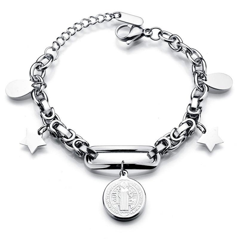 Popular Titanium Steel Double Life Tree Bracelet NHHF145919