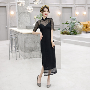 Chinese dress qipao long cheongsam chinese traditional party evening dress