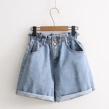 12-13-14-15-16岁18大童女孩夏季初高中学生百搭高腰阔腿牛仔短裤