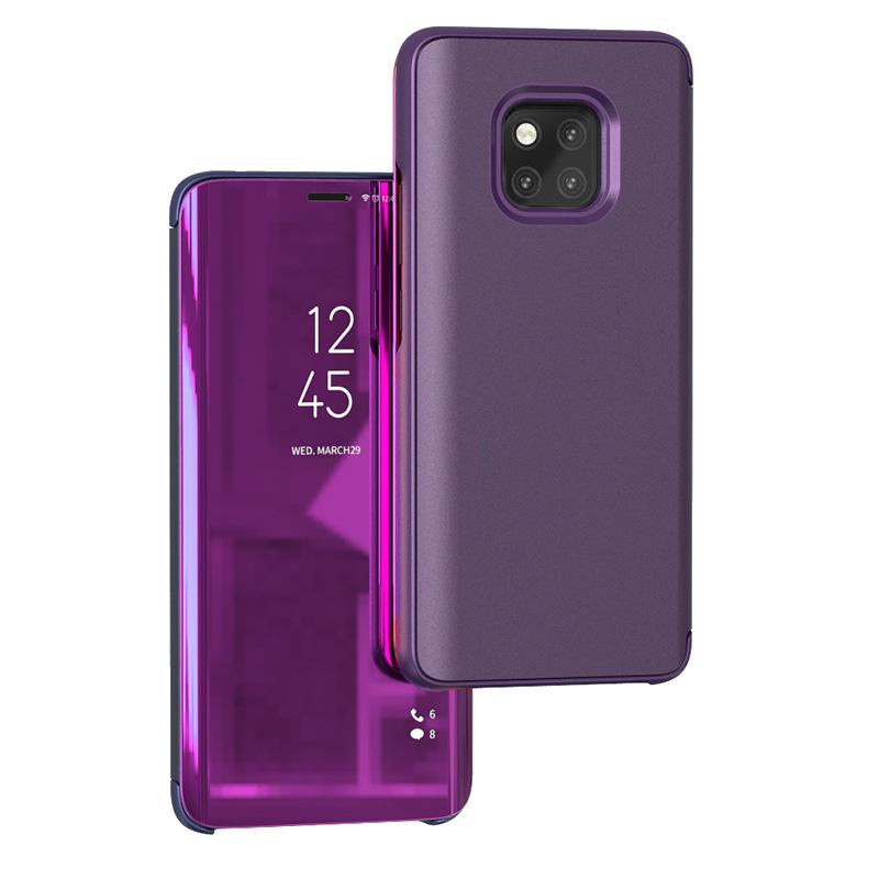 适用华为mate20Pro手机保护套翻盖nova5i智能镜面立式皮套P30壳