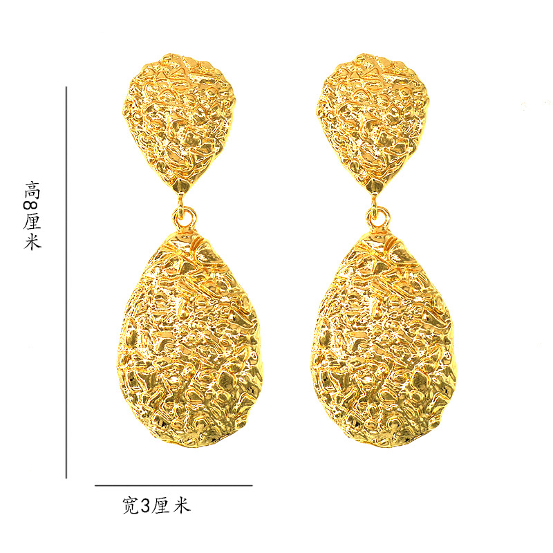 Womens Geometry Electroplating Alloy Earrings NT190430120089