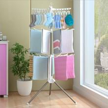 厂家批发落地折叠挂衣架婴儿晾衣架卧室阳台宝宝尿布晾晒架毛巾架