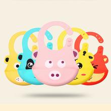 硅胶多色立体卡通婴幼儿围兜 可爱动物婴儿口水巾 儿童围兜口水巾