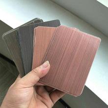 不锈钢仿古铜板 哑光金属拉丝古铜板 无指纹彩色不锈钢拉丝板