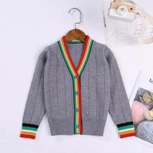 2019新款棉线女童针织开衫薄款春款韩版长袖儿童毛衣针织衫外套