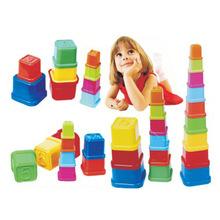 正方形疊杯 幼兒園早教兒童桌面游戲套杯益智玩具疊疊杯72件