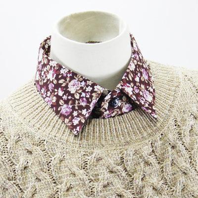 Fake collar Detachable Blouse Dickey Collar False Collar Pop up small floral cotton shirt collar coat collar collar fake collar