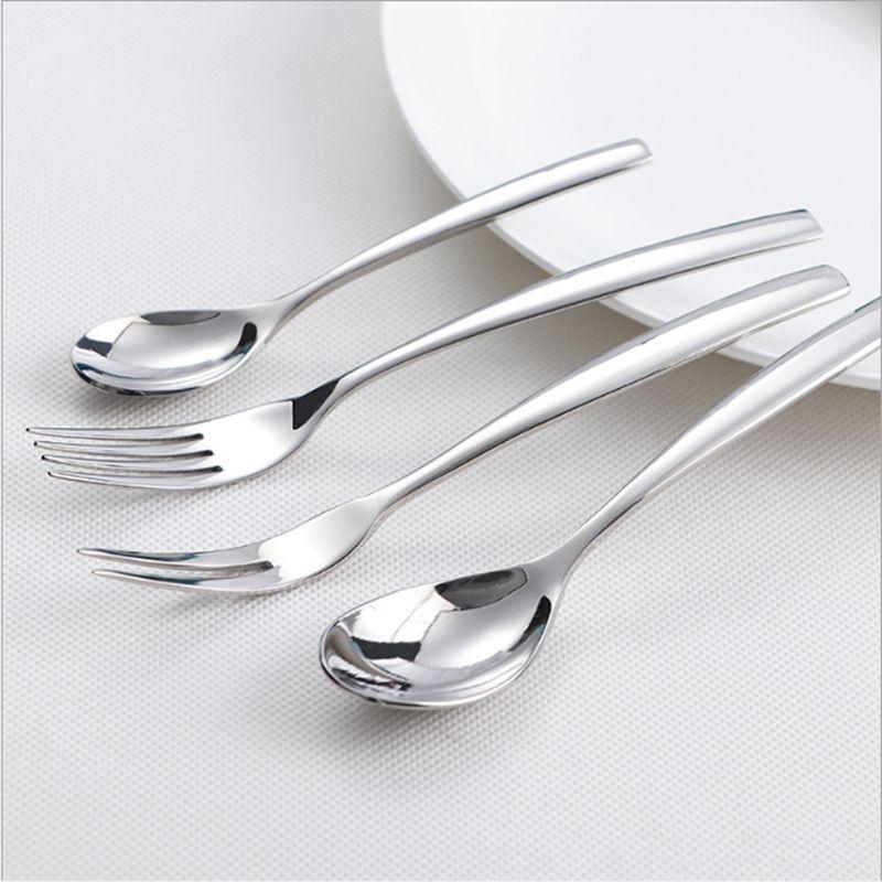 304不锈钢西餐牛排刀叉勺 高档酒店西餐餐具套装水果叉 现货供应