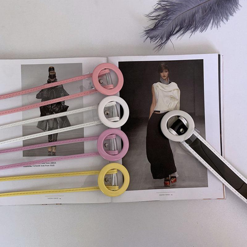 fashion transparent nonporous belt  NHWP336887
