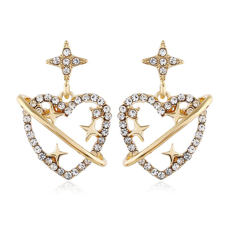 Diamond Love Earrings Female Earrings Korean Simple Earrings Wholesale NHVA186011