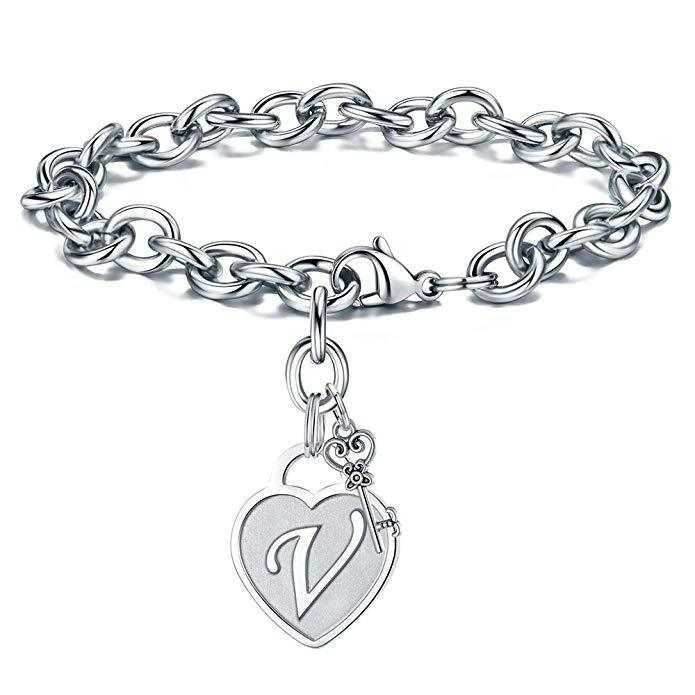 Unisex Heart Shaped Plated Stainless Steel Bracelet NHXS152756