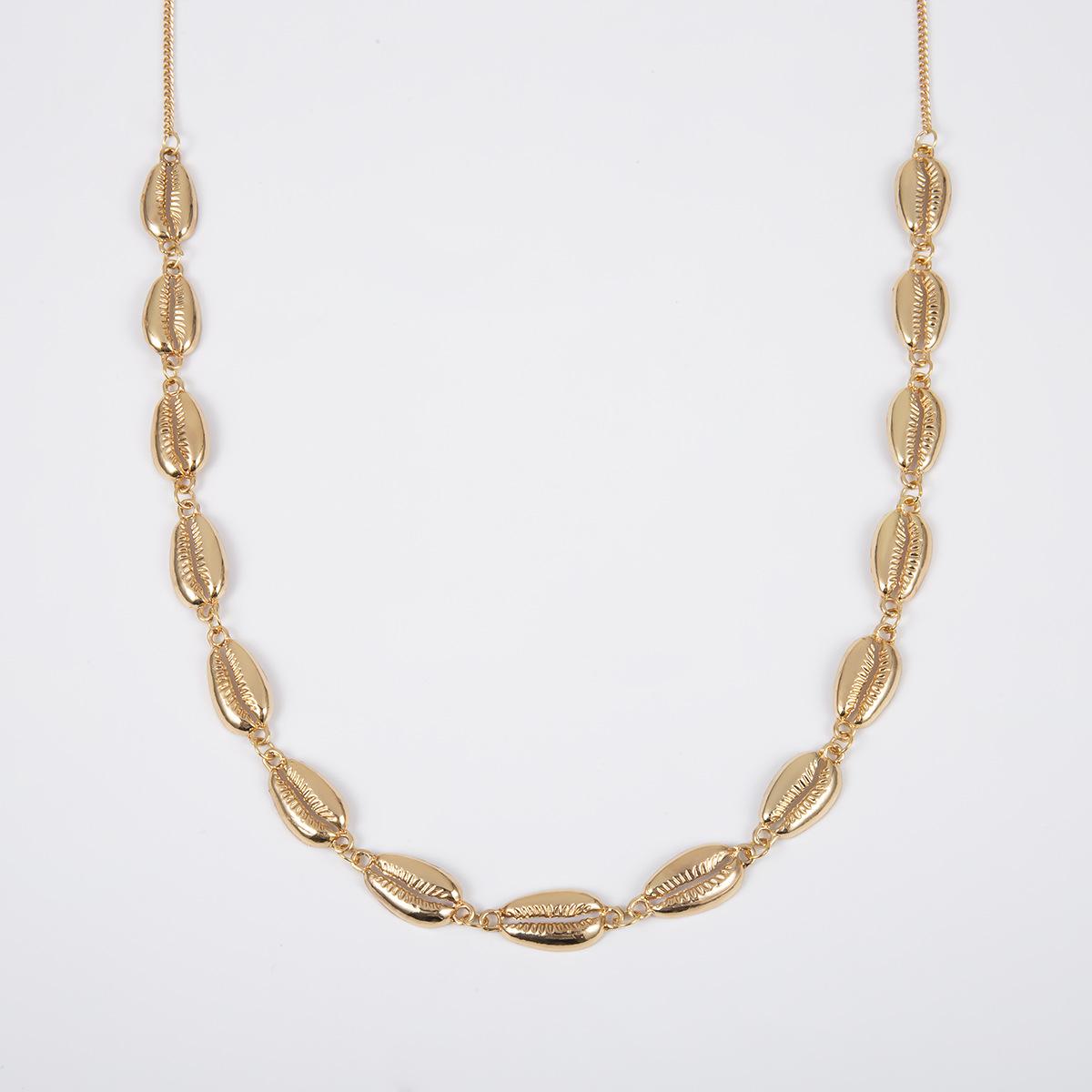 Simple shell pendant single layer creative body chain NHXR141829