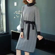 加長款毛衣女過膝針織毛衣裙2020新款秋冬季寬松加厚中長款打底衫