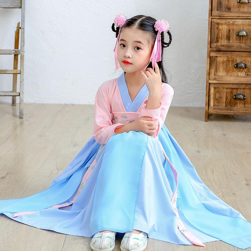 女童汉服中国风童装儿童古装襦裙超仙女古风小女孩唐装连衣裙夏装