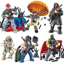 808吃鸡战场拼装积木人仔玩偶摆件军兵人模型迷你场景积木配件包