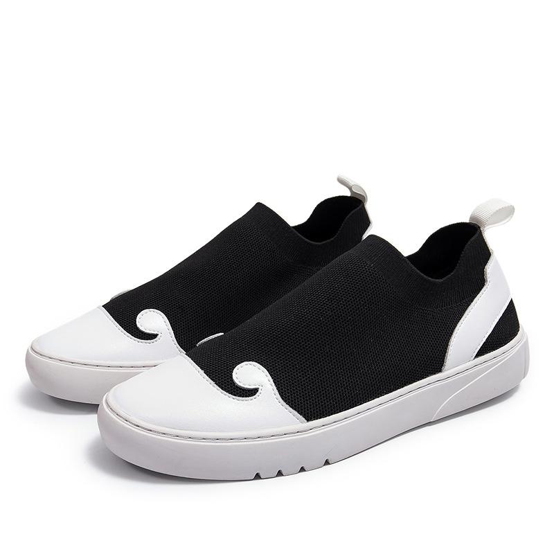 中国风男鞋复古皮鞋悟空套脚一脚蹬懒人休闲鞋夏季老北京豆豆潮鞋