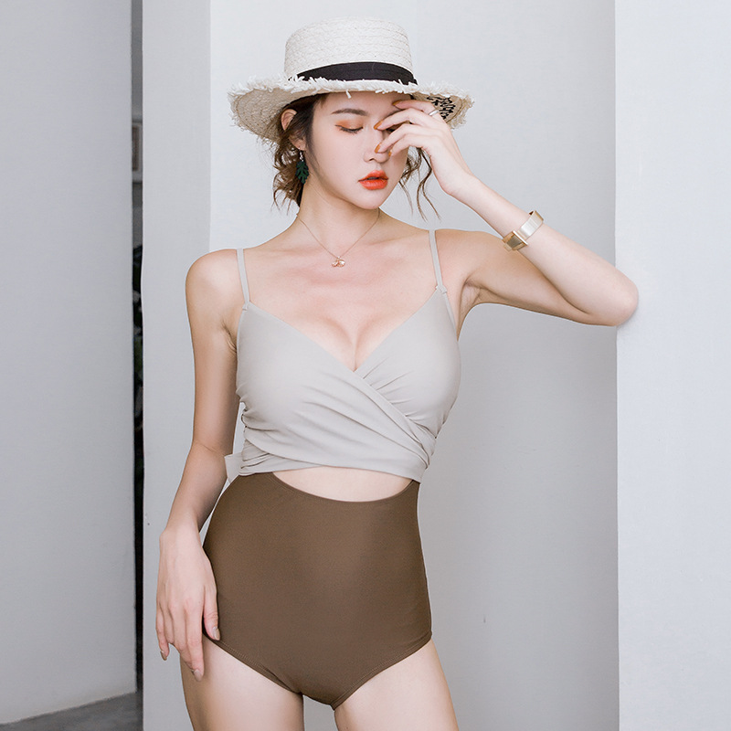 New Fashion Sexy Triangle One Piece Swimsuit Wholesale NHHL204977