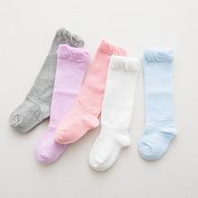 秋冬素色全棉彩棉宝宝袜子 婴儿松口无骨纯棉长筒袜儿童0-1-3-5岁