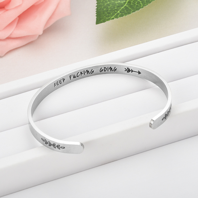New titanium steel C-shaped bracelet NHTP143475