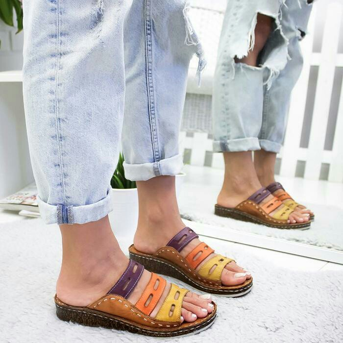 New Summer Sandals Women'S Size Color Non Slip Shoes Large Women'S Slippers