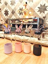 卡通兔王玻璃杯硅胶套防烫隔热高硼硅水杯可爱兔子女学生礼品杯子