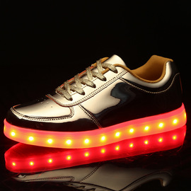 Colorful luminous shoes lovers LED lamp shoes USB charging long running lamp sneakers