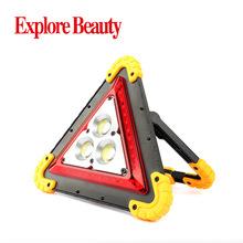 多功能三角形COB充電 貨車緊急停車警示燈 戶外移動電源USB工作燈