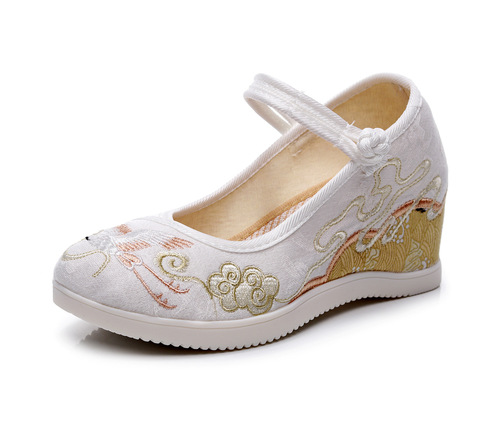Chinese hanfu shoes fairy princess cosplay shoes for women girls  cotton embroidered shoes embroidered women's shoes
