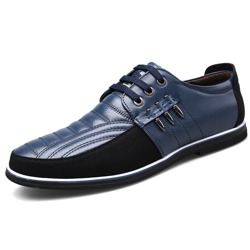 Lace-up Artificial Pu Paragraph 2020, Spring Men's Casual Shoes Cross-border Trend Mens Shoes Movement 46 Code
