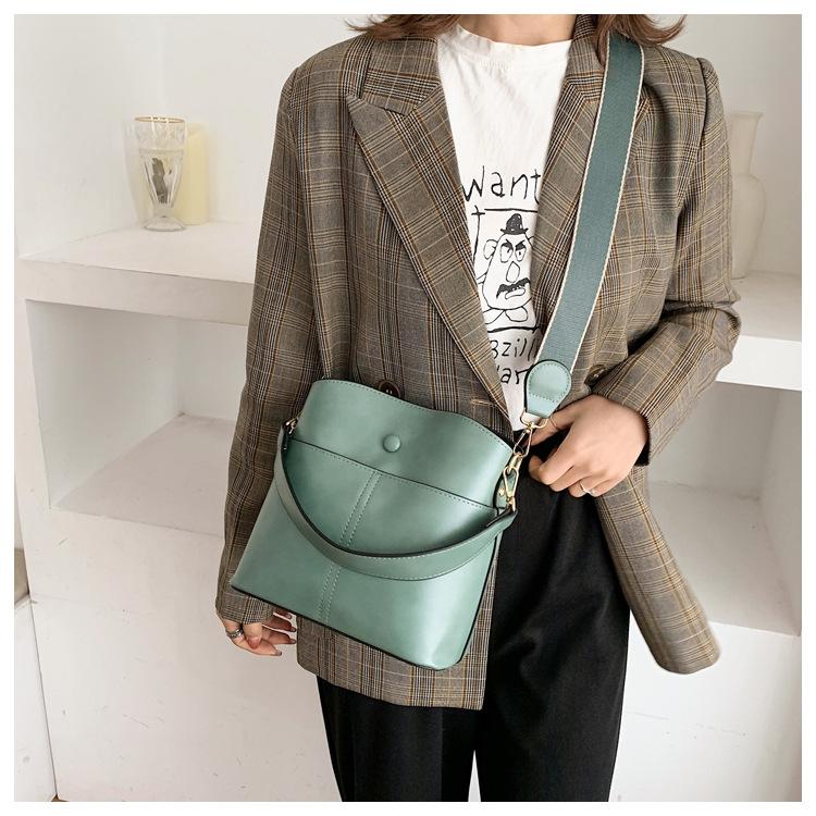 new trendy korean shoulder strap bucket bag NHJZ316120