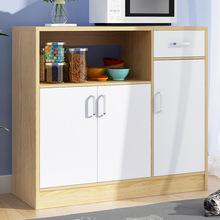 批发餐边柜现代简约茶水厨房收纳柜橱柜客厅储物多功能碗柜微波炉